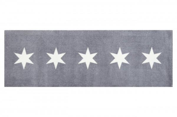 Fussmatte - Gift Company, Washables - Stars, grau - 185cm