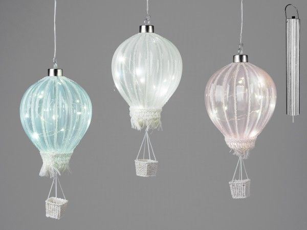 Formano Ballon mit LED, 19cm, rosa