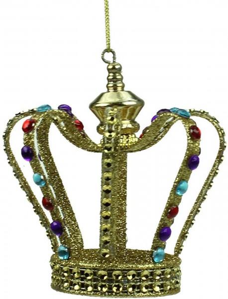 Gisela Graham Anhänger, Weihnachtskrone gold mit Juwelen (Schmucksteinen)