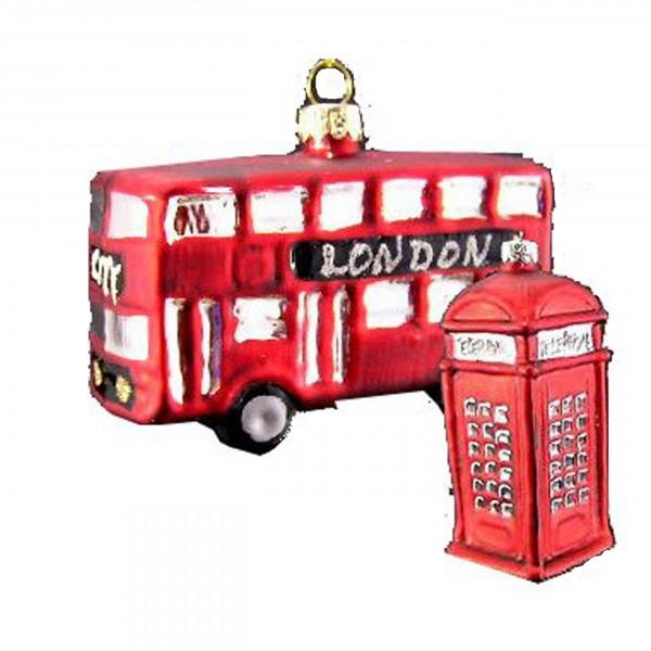 Hänger Bus und Telefonzelle