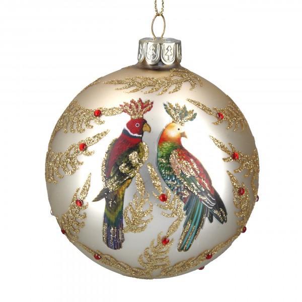 Gisela Graham - Weihnachtskugel/Ball - bunte Papageien