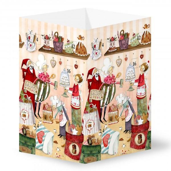 Silke Leffler - Adventskalender-Leuchte, Himmlische Weihnachtsbäckerei