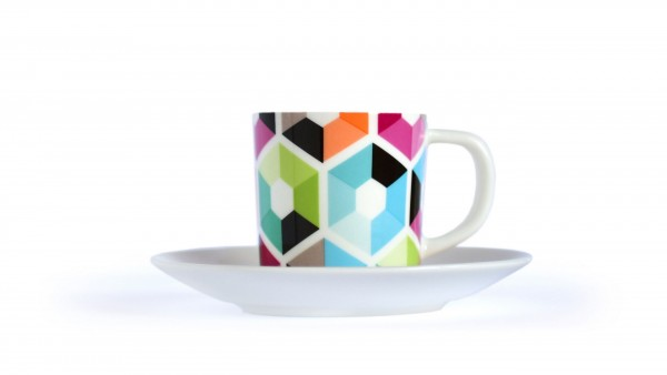 Remember Espressotasse mit Unterteller Hexagon