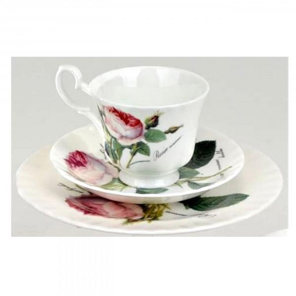 Kaffeegedeck Redoute Roses 3tlg. - Roy Kirham