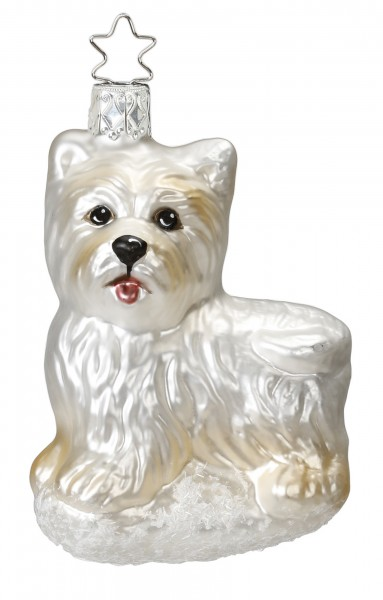Inge-Glas Anhänger Hund Schlecki - Christbaumschmuck 8,5cm