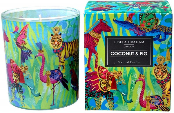 "Gisela Graham - Duftkerze ""Coconut & Fig"" - im Fantasy Animals Design"