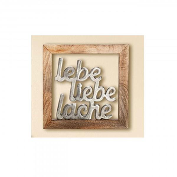 """Gilde - """"Lebe, Liebe, Lache"""" im Rahmen 20x20cm"""
