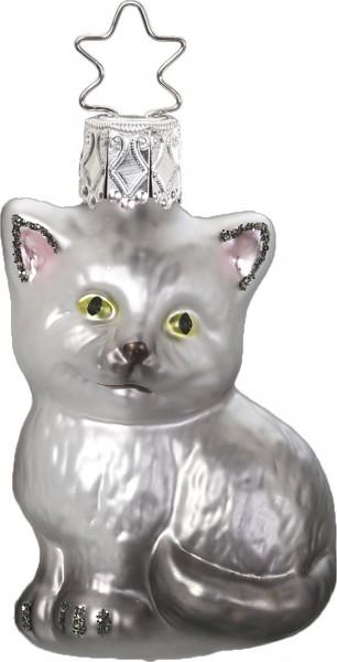 Inge-Glas Anhänger Karlo Katze - Christbaumschmuck 6,5cm