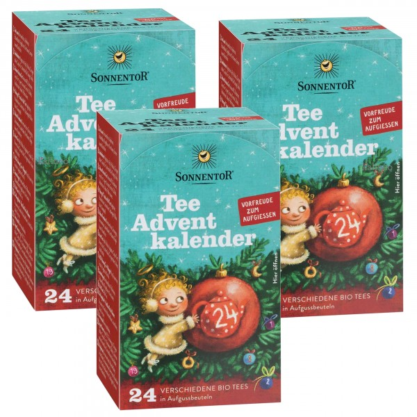 Sonnentor Tee-Advent-Kalender - 3er Pck