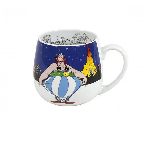 Kuschelbecher Asterix - ich bin nicht dick!