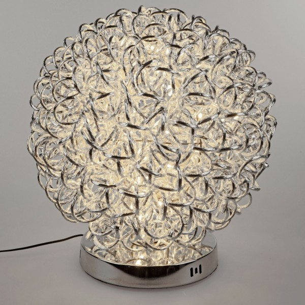 Formano Drahtkugel-Lampe+Fuß, Draht, 25cm