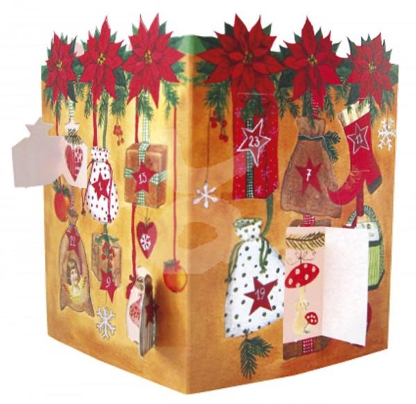 Leuchtenter Adventskalender Weihnachtssterne