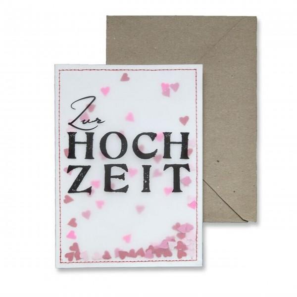 """Good old friends - Konfettikarte """"Zur Hochzeit"""""""