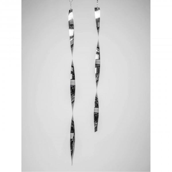 Formano - Deko Hänger Spirale L. 80cm Silber aus Edelstahl - Vogelschreck