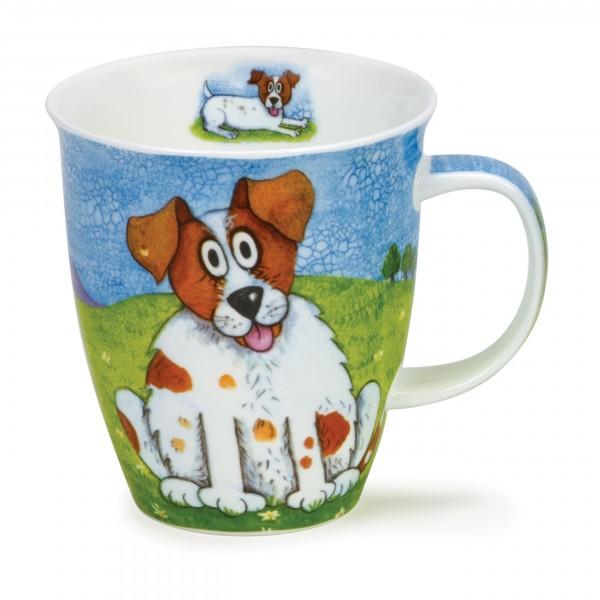Dunoon Becher - Happy Dogs, Jack Russel